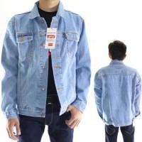 Jeans Jaket Jeans Levis Pria Bioblitz Keren Premium ( Biru Telor Asin