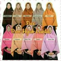 Syari Jilbab Syari Segi Empat Polos 130 X 130 Cm Bonus Bros Hijab Lucu