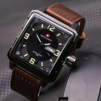 Swiss army - Kotak - Jam tangan Pria - Model Casual - Leather strap