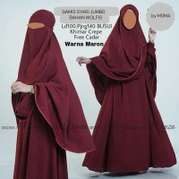 gamis hijab syari plus jilbab cadar
