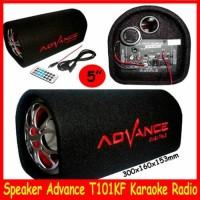 """Speaker Advance T101KF Portable Speaker Tabung 5"""" Karpet"""