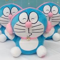 Jual Boneka Cantik Imut Boneka Doraemon Headphone Pink SNI Murah