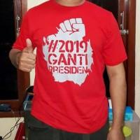 Promo -- T Shirt Kaos Baju 2019 Ganti Presiden