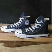 Sepatu Converse AllStars oxClasic high tinggi navy Grade Original 100%