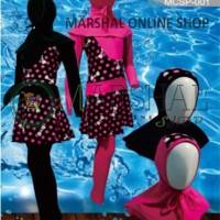 Clear Water Baju Renang Diving Anak Muslimah Motif - MCSP001