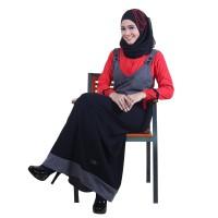 Jual Baju Gamis Untuk Orang Pesta, Gamis Kaos Hitam Terbaru, Gamis Terbaru Murah