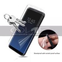 Anti Gores Full Samsung A8 2018 Screen Protector Elastis Nano Clear