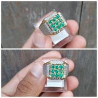 Cincin Zamrud Dan Berlian, Ring Perak Hand Made Microseting, MANTAAAP.