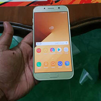 Hp Second Samsung A7 2017 Gold SEIN Fullset Mulus 99%