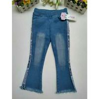 Jeans Cutbray Anak Perempuan usia 10-12 tahun Celana Jeans List Putih