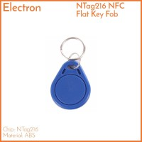 NFC NTag216 Key Fob Flat Biru - RFID 13.56 MHz Tag Gantungan Kunci
