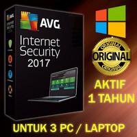 Antivirus AVG Internet Security 1 Tahun untuk 3 PC/Laptop - Original