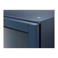 Rak Buku IKEA BILLY Rak buku dengan pintu kaca, biru tua Ukuran