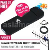 Paket Modem Huawei E3372 4G LTE 150Mbps & Antena Yagi TXR145 20dBi