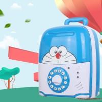 Celengan ATM Kado Mainan Edukasi Anak Saving Box Bank Doraemon