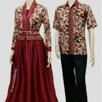 Stok Terbatas!! Batik Couple Sarimbit Pratiwi Seragam Pesta Hijab/Baju
