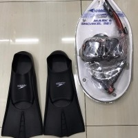 Paket kacamata snorkling diving mask speeds kaki katak speedo