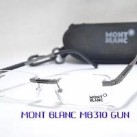 Frame Kacamata Frameles Montblanc 310 Baca Minus Plus Gaya Pria Wani