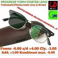 Lensa PROGRESIF PHOTOCROMIC CYLINDER INDENT BROWN GREY LEINZ FORM ST
