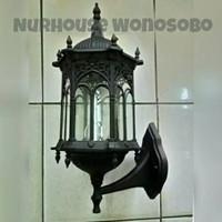 lampu dinding taman klasik antik model eropa hitam 5000 A/N