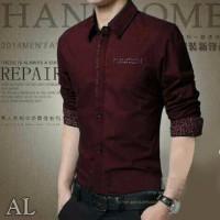 New Baju Kemeja Cowok Slim Fit Limited Edition Model Hem Pria Terbaru