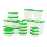 Jual Ikea (R) - Pruta - Container Food Set Of 17 Bpa Free - Lunch Box -Asli Murah