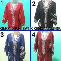 Daster Kimono Pjg Batik Kencana Ungu