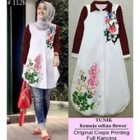 Big Sale ! -- Tunik Selina Kotak Baju Atasan Wanita Blus Blouse Muslim