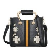 Tas Jinjing Tote Bag Bunga Wanita Hitam Fashion Murah Cantik