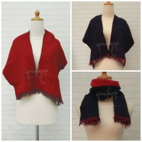 syal shawl scarf merah navy u pria wanita anak laki perempuan   #294
