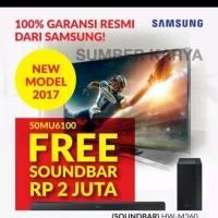 Samsung UHD TV MU6100 50 inch Free Sound Bar M 360 Gara Diskon