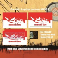 Garskin Laptop lenovo Flex 2 15 inchi motif Indonesia - Free Custom