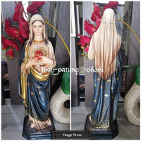 Patung Maria Hati Kudus Batik
