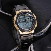 Jam Tangan Pria / Jam Tangan Cowok Digitec Original Black Gold