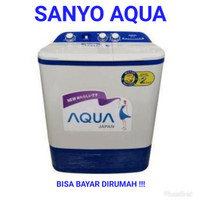Mesin Cuci 2 Tabung Sanyo Aqua 871 XT 8Kg New Series