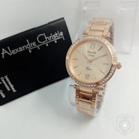 Jam Tangan Wanita Alexandre Christie Ac2710 Rose Original