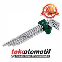 Kunci L Set Tamper Torx Lubang 9 pcs T10-T50 TEKIRO