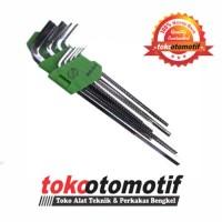 Kunci L Set Panjang 9 pcs 1.5-10 mm MEIJER