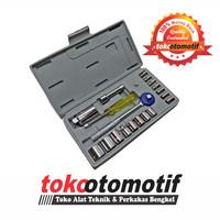"Kunci Sok Set 21 pcs 1/4"" & 3/8"" 4-19mm TOSITA"