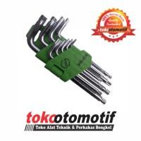Kunci L Set Bintang Pendek 9 pcs T10-T50 MEIJER