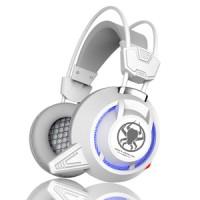 Plextone PC835 Gaming Headset LED dengan Mic - Putih