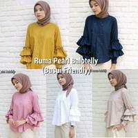Atasan wanita busui / Baju menyusui / Blouse hijab murah : Ruma Pearl