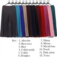 (Diskon) Celana Wanita Muslimah Kulot Plisket Bahan Kaos - EX03