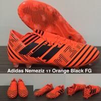 Sepatu Bola ADIDAS NEMEZIZ 17 ORANGE BLACK FG