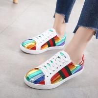 7aeaed62a13 SEPATU MURAH WANITA BATAM Gucci Rainbow womens sneakers MC 318-11 UP