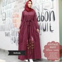 Model baru Jual baju muslim / Grosir gamis murah wanita / vintage