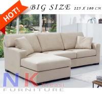 Jual Sofa Tamu L Minimalis mewah, Sofa Santai, sofa sudut modern + MEJA Murah