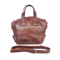 Hand leather bag Brown - Kenes Leather