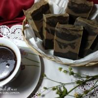 CoffeeMilk Scrub Bar (sabun scrub kopi + susu kambing) Handmade Soap