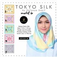 Diskon Hijab Jilbab Kerudung Segi Empat Satin Motif Tokyo Silk By